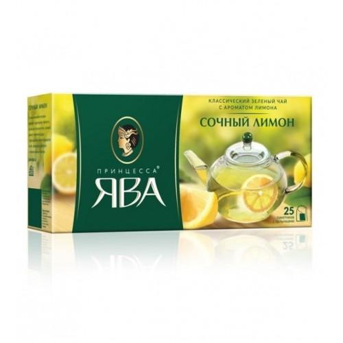 Чай китайський зелений байховий дрібний «Соковитий лимон» у пакетиках, 37,5 г ТМ «Принцеса ЯВА»