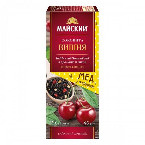 """Чай Майский """"Соковита Вишня"""" 25 пакетиків"""