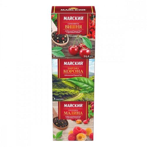 """Чай Майский асорті """"Арома колекція"""" 24 пакетиків"""